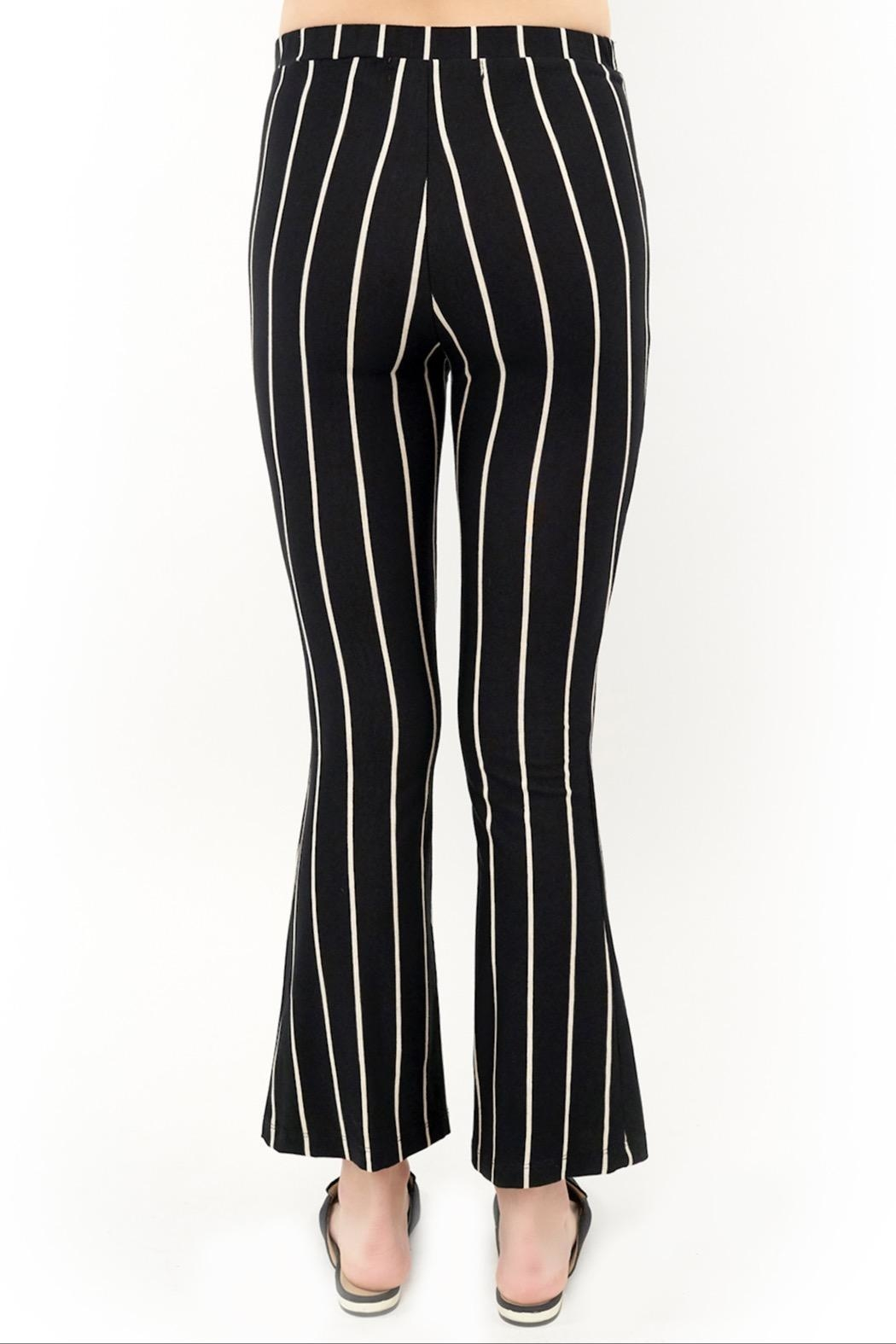 Saltwater Luxe Striped Flare Leggings - Front Full Image