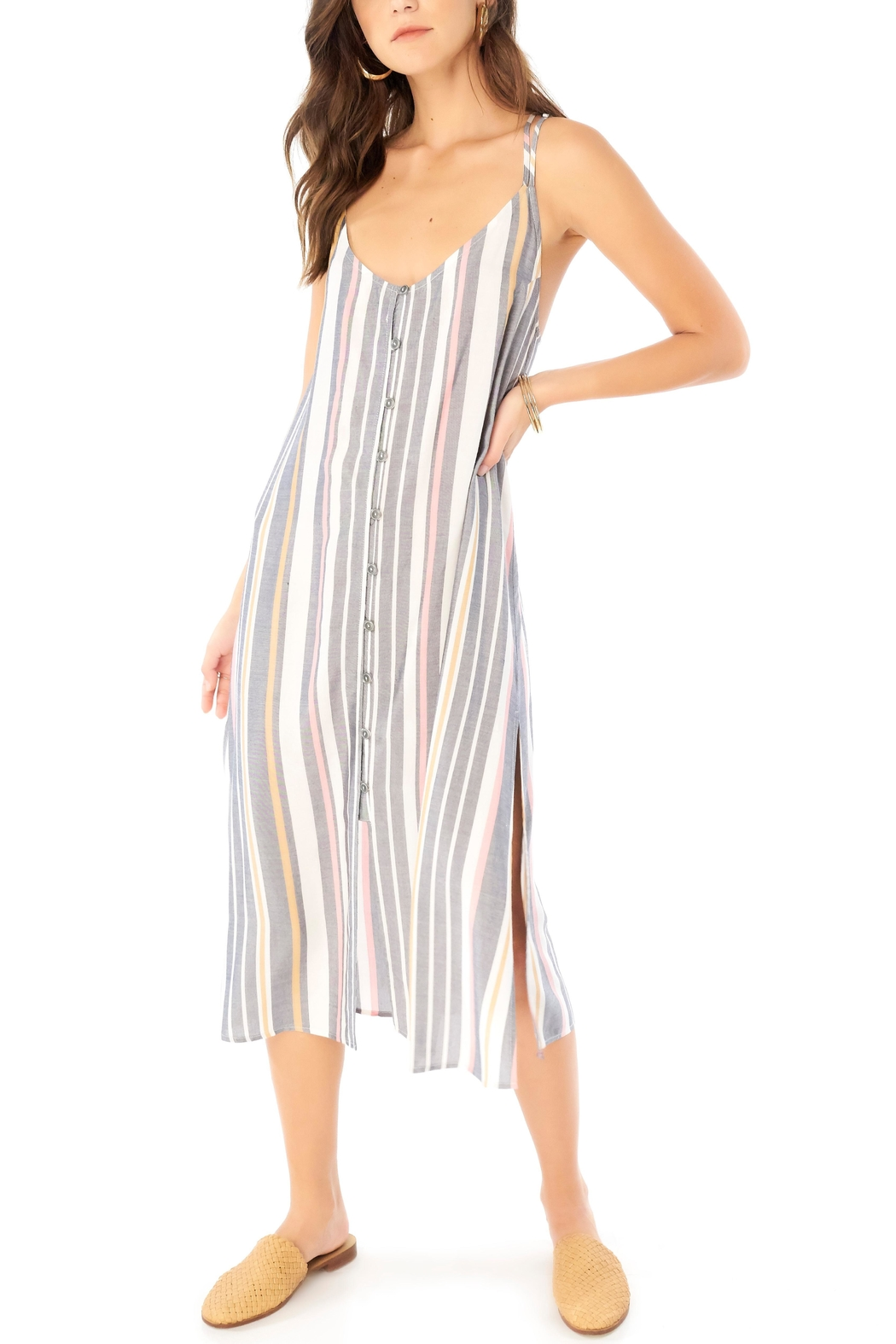 Saltwater Luxe Striped Midi Dress - Main Image