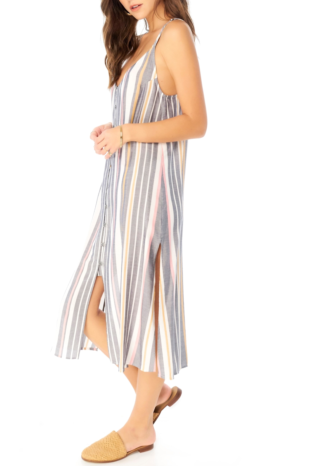 Saltwater Luxe Striped Midi Dress - Side Cropped Image