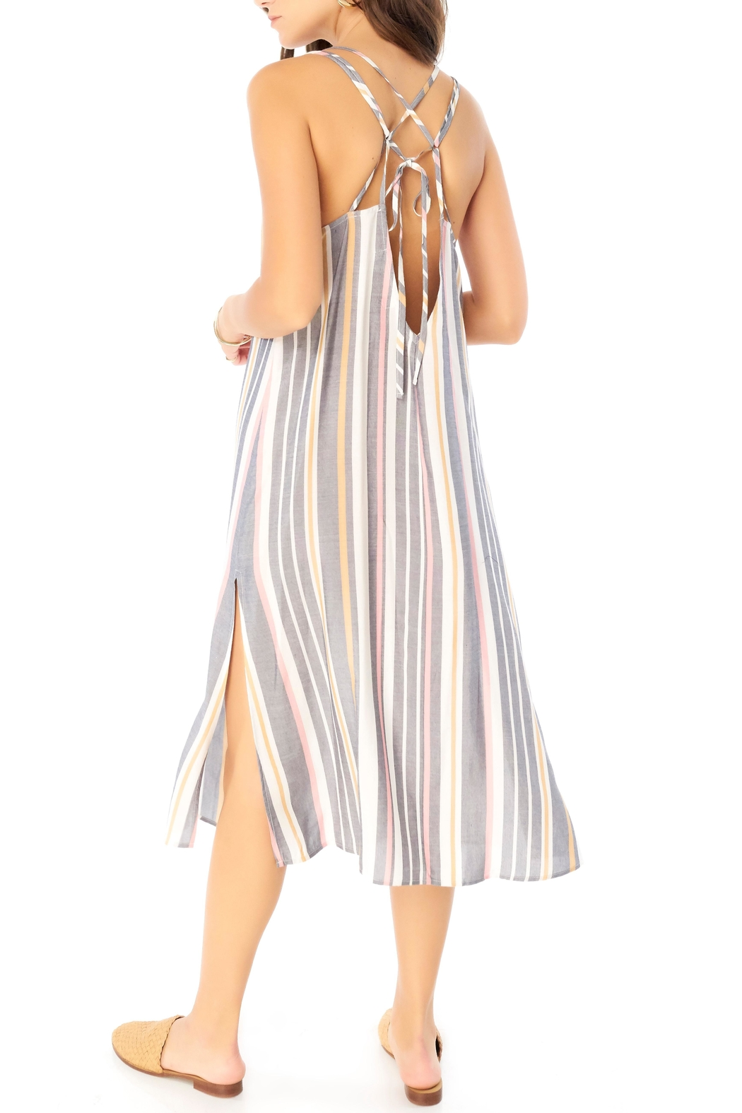 Saltwater Luxe Striped Midi Dress - Front Full Image