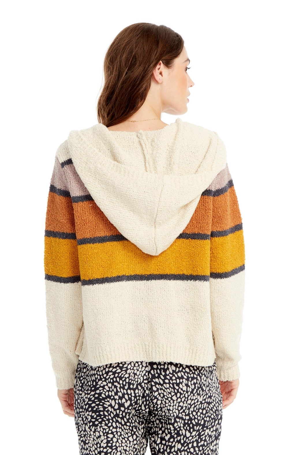 Saltwater Luxe Sweater Stripe Hoodie - Side Cropped Image