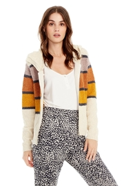Saltwater Luxe Sweater Stripe Hoodie - Front cropped