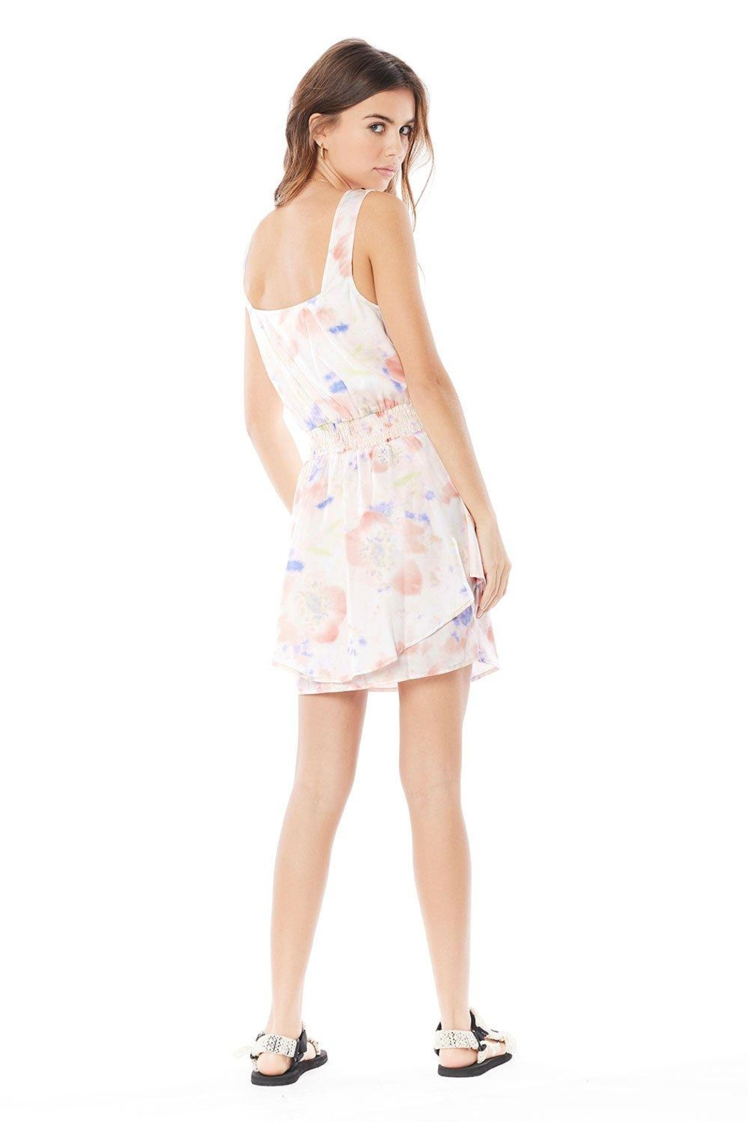 Saltwater Luxe Violet Mini Dress - Side Cropped Image