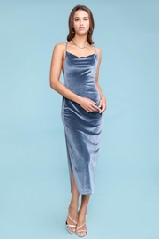 Salty Velvet Midi Dress - Front full body