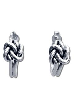 Salvador Jouhayerk Double Knot Hoops - Product List Image