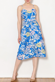 Sam & Lavi Blue Floral Dress - Product Mini Image