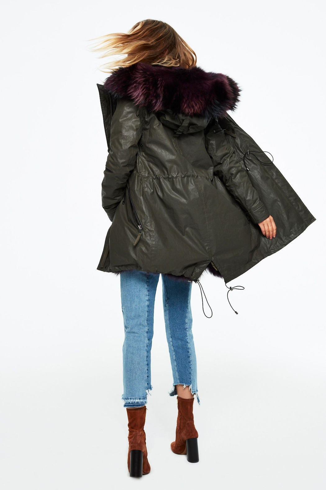 Sam. Luxe Limelight Parka - Back Cropped Image