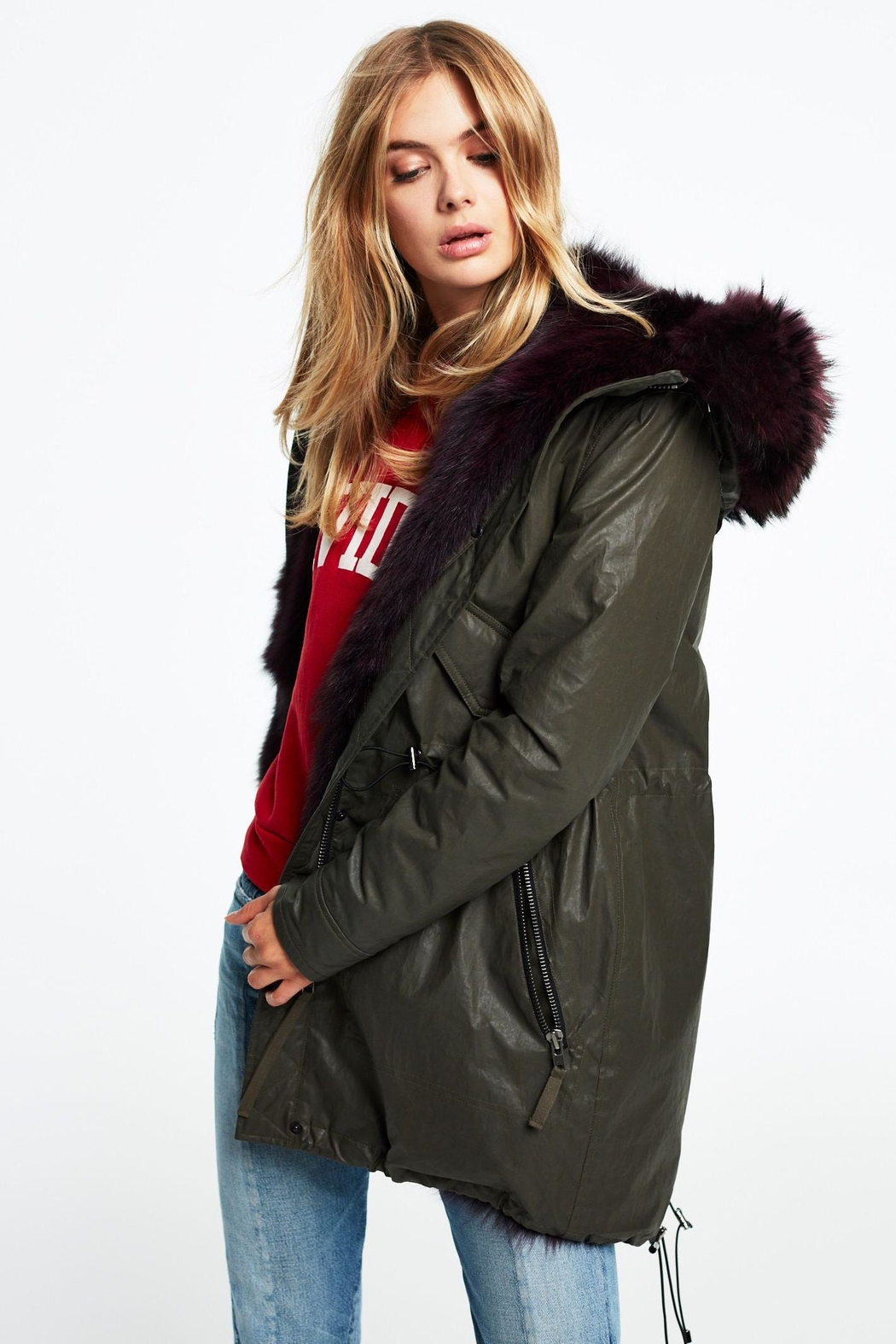 Sam. Luxe Limelight Parka - Front Cropped Image