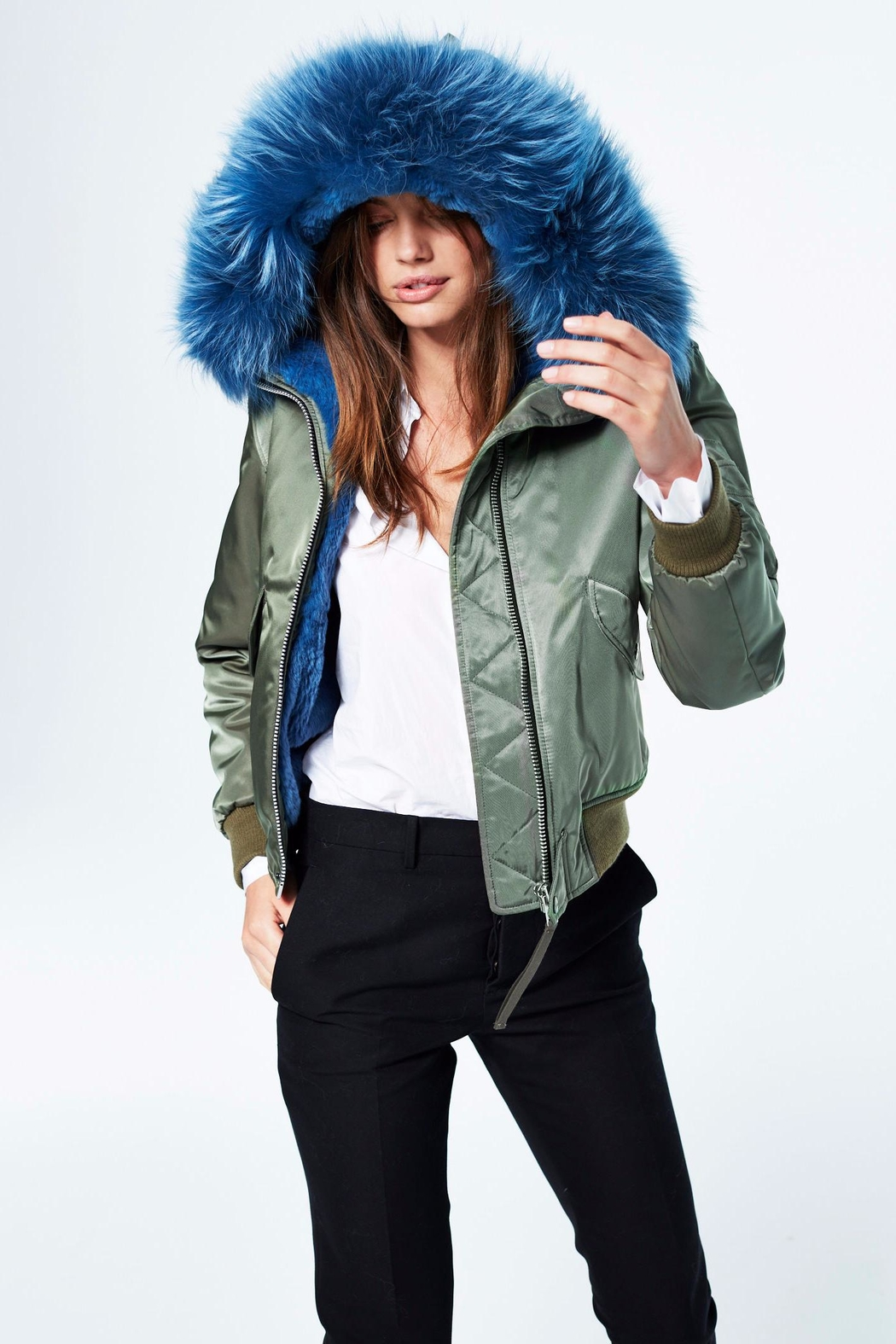 5a2eba4e3293 Sam. Rabbit Jenny Bomber Jacket from Hudson Valley by Bfree — Shoptiques