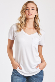 another love  Sam Scoop Neck Tee with Pocket - Product Mini Image