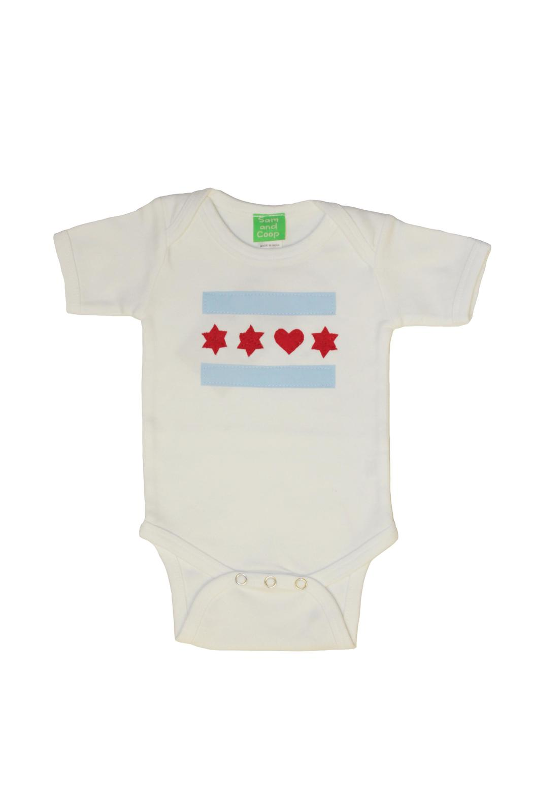 Sam & Coop Love Chicago Onesie - Main Image
