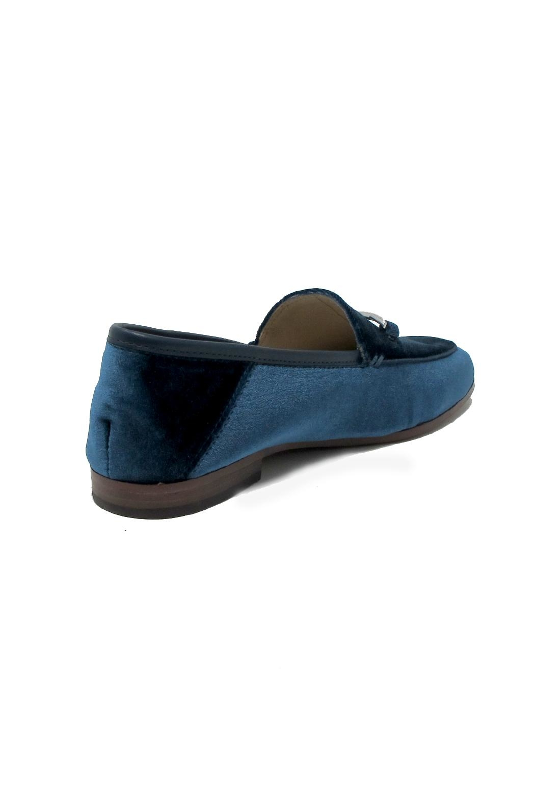 Sam Edelman Blue Velvet Loafers - Front Full Image