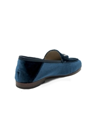 Sam Edelman Blue Velvet Loafers - Front full body