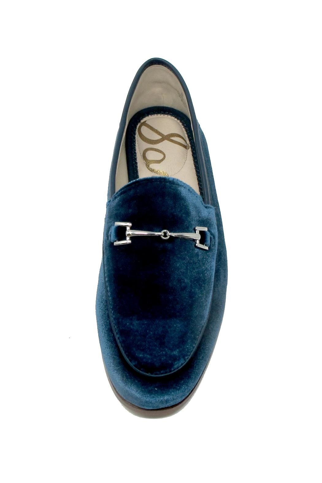 Sam Edelman Blue Velvet Loafers - Side Cropped Image
