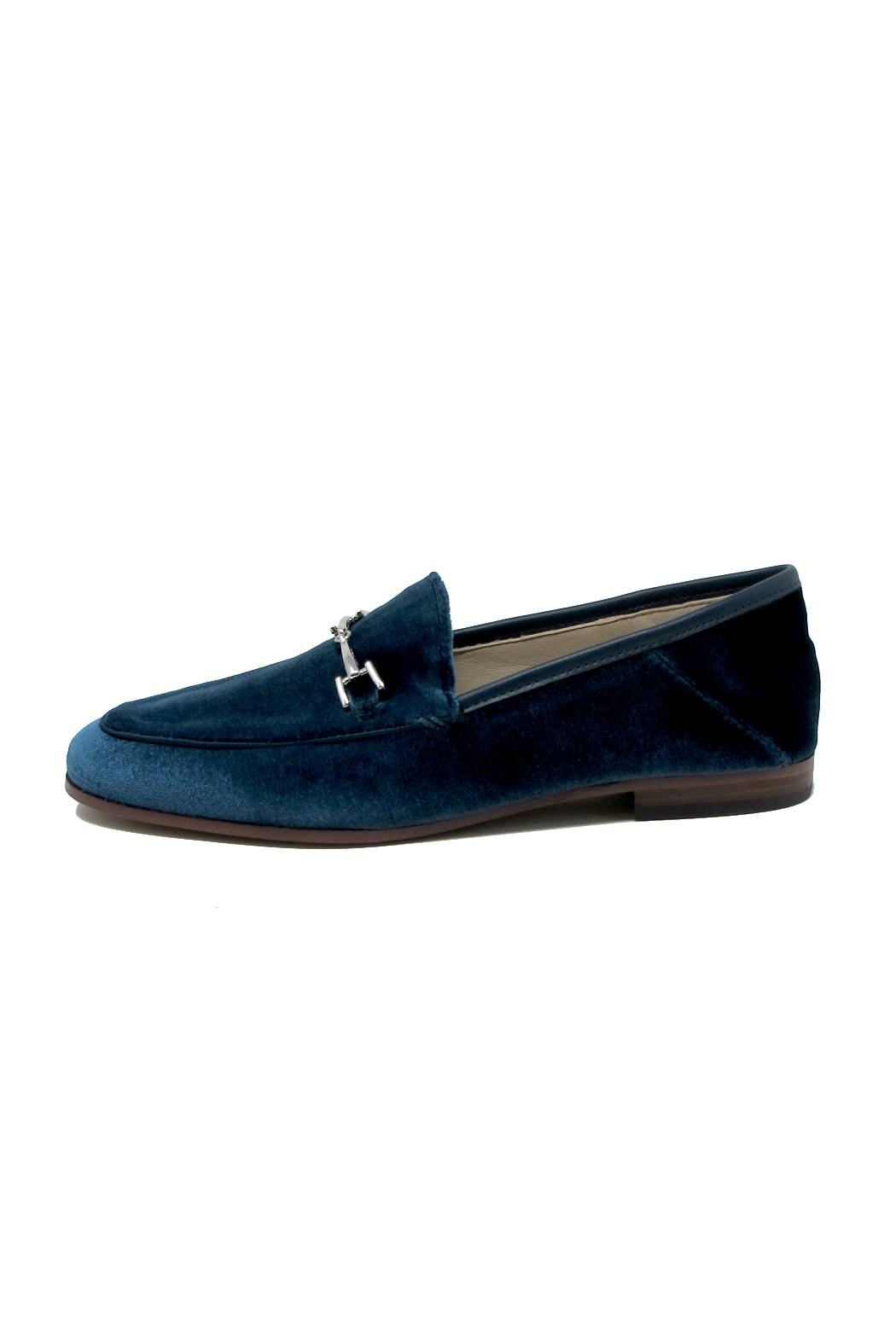 Sam Edelman Blue Velvet Loafers - Main Image