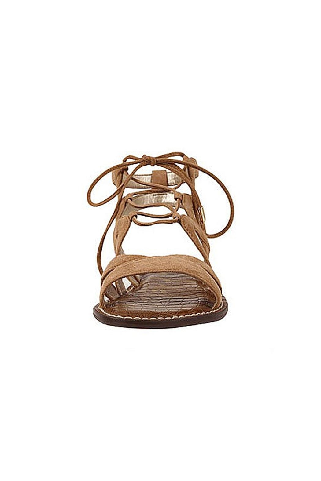 Sam Edelman Brown Lace Up Sandals - Side Cropped Image