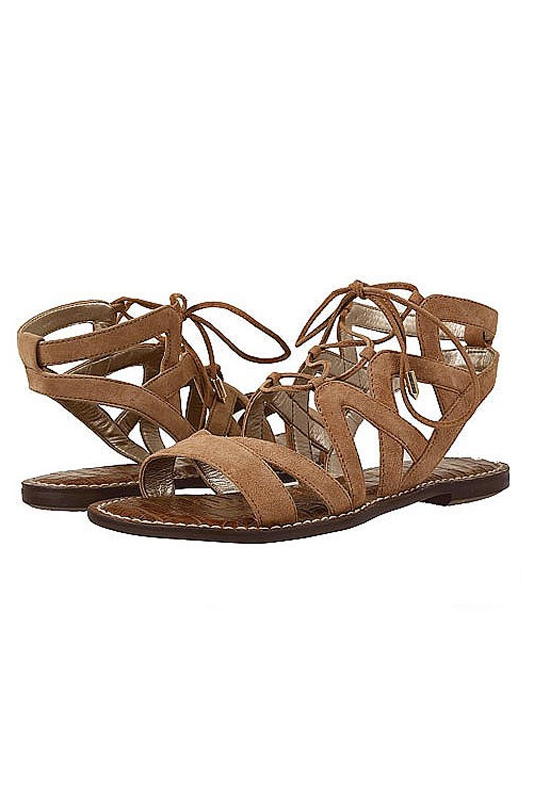 Sam Edelman Brown Lace Up Sandals - Front Cropped Image