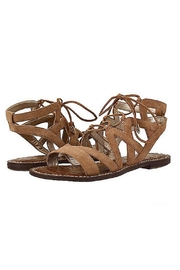 Sam Edelman Brown Lace Up Sandals - Front cropped