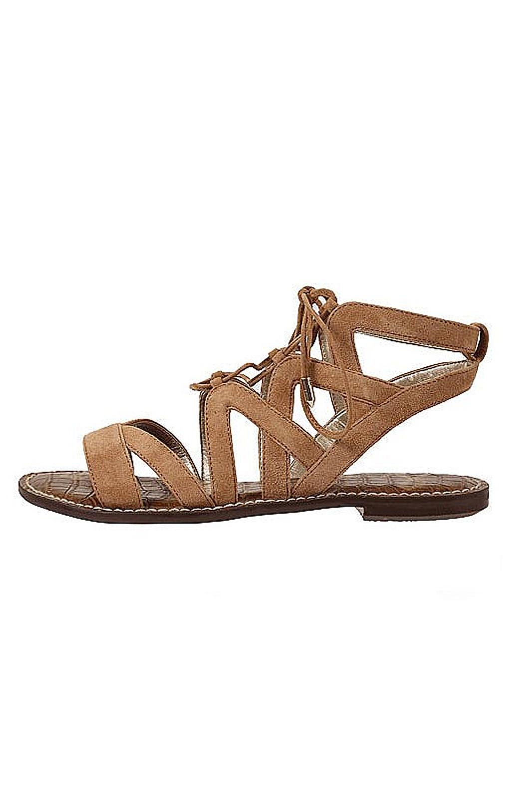 Sam Edelman Brown Lace Up Sandals - Main Image
