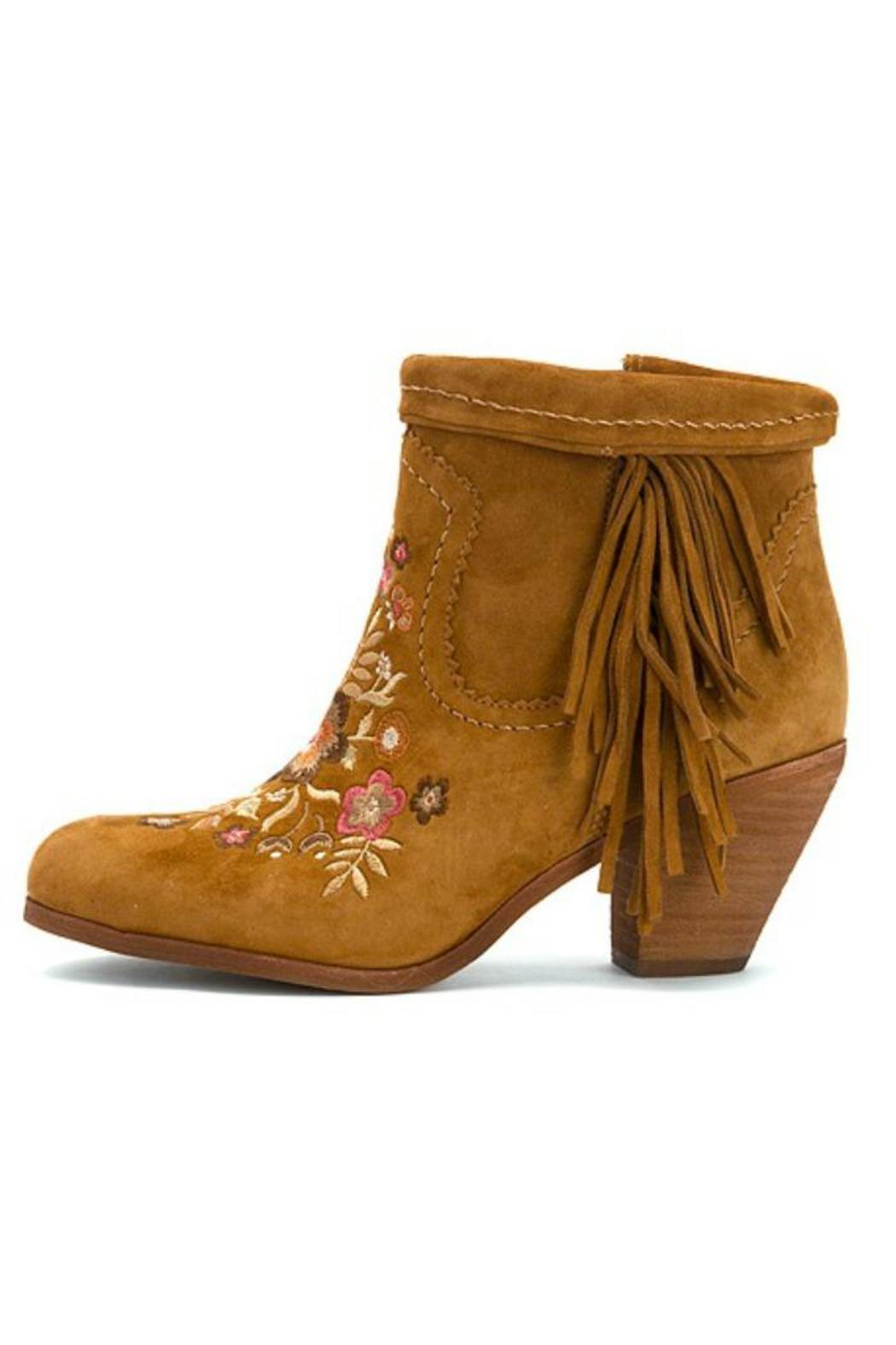 881069efb763 Sam Edelman Fringe Tan Bootie from Williamsburg by The Shoe Attic ...