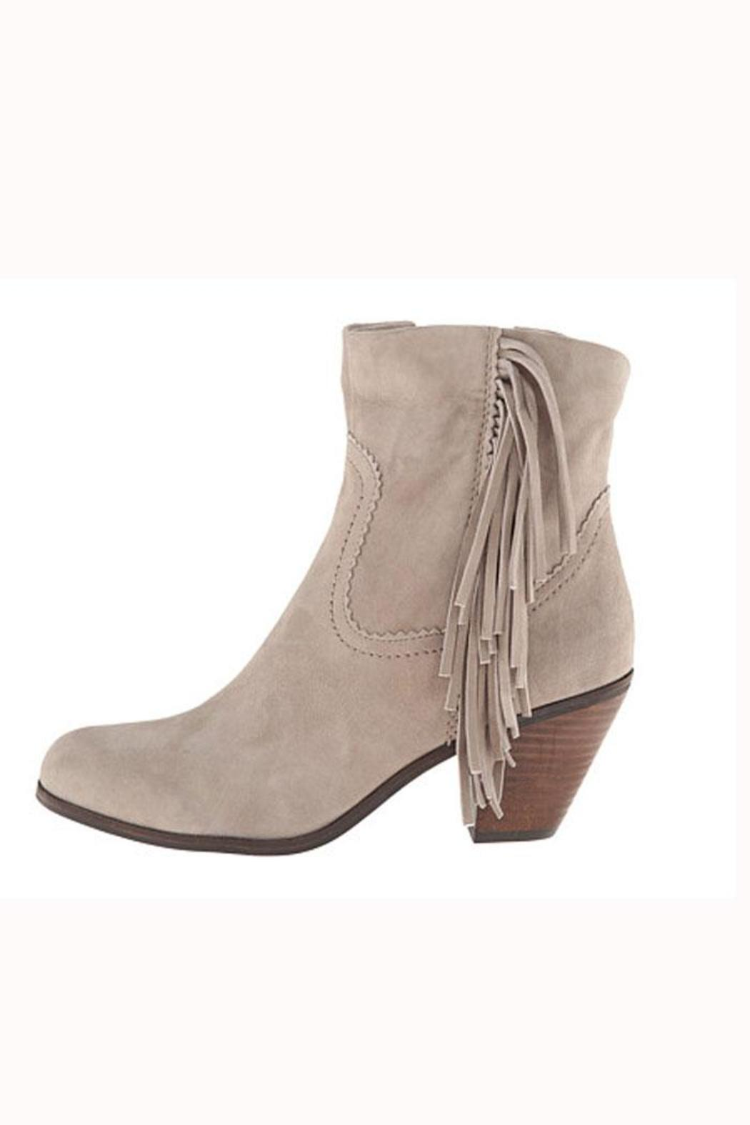 5cca5a8eada3ea Sam Edelman Grey Fringe Bootie from Hudson Valley by Bfree — Shoptiques