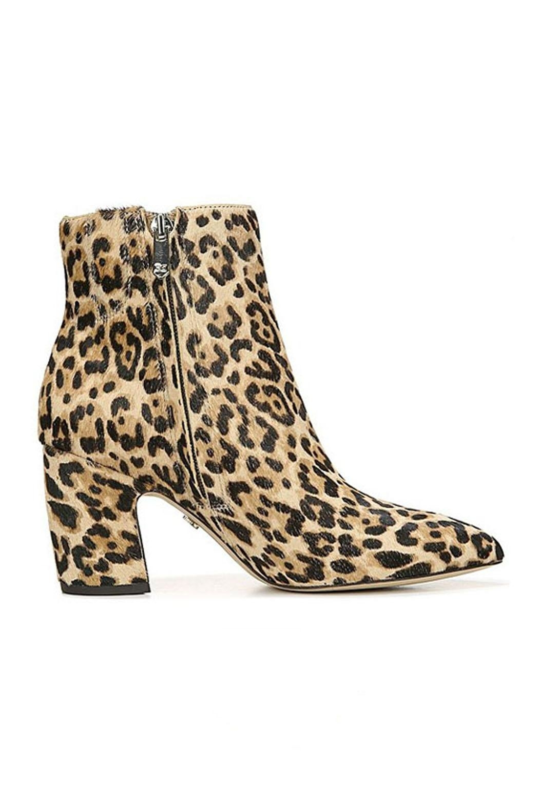 Sam Edelman Hilty Leopard Bootie - Side Cropped Image