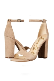Sam Edelman Nude Block Heels - Front full body