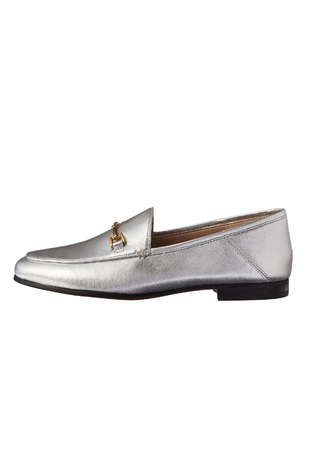 Sam Edelman Silver Metallic Loafer - Front Cropped Image