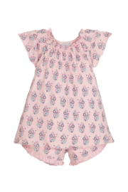 Feather Baby Samantha Ruched Tunic and Short Set - Front cropped