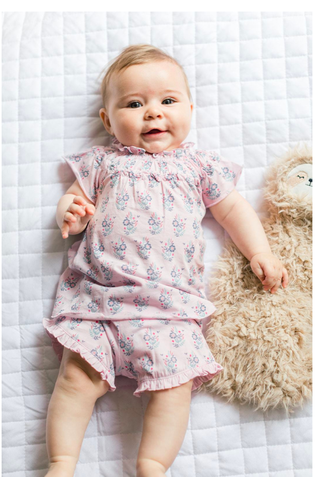 Feather Baby Samantha Ruched Tunic and Short Set - Front Full Image