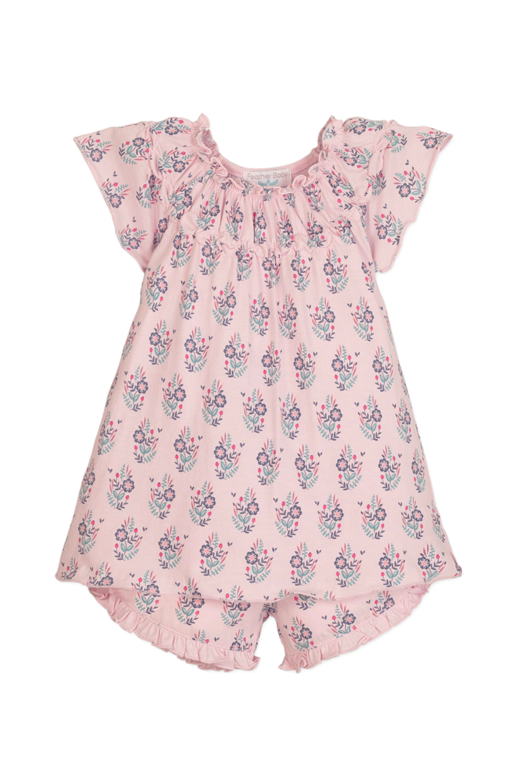 Feather Baby Samantha Ruched Tunic and Short Set - Main Image