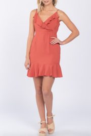 Everly Samantha Ruffle Dress - Product Mini Image