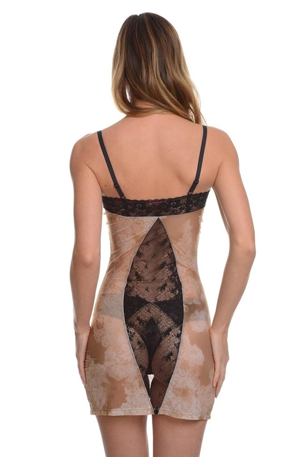 Samantha Chang Filigree Fitted Chemise - Front Full Image