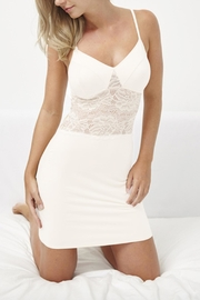 Samantha Chang Slinky Lace-Panel Slip - Product Mini Image