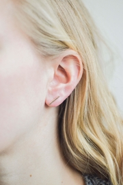 Samantha McIntosh Gold Bar Earrings - Product Mini Image