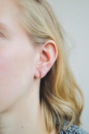 Samantha McIntosh Gold Flare-Bar Earrings - Product Mini Image