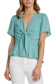 willow and clay Samara Tie Front Top - Product Mini Image