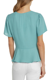 willow and clay Samara Tie Front Top - Front full body