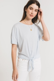 z supply Samarra Tie Front Tee - Front cropped