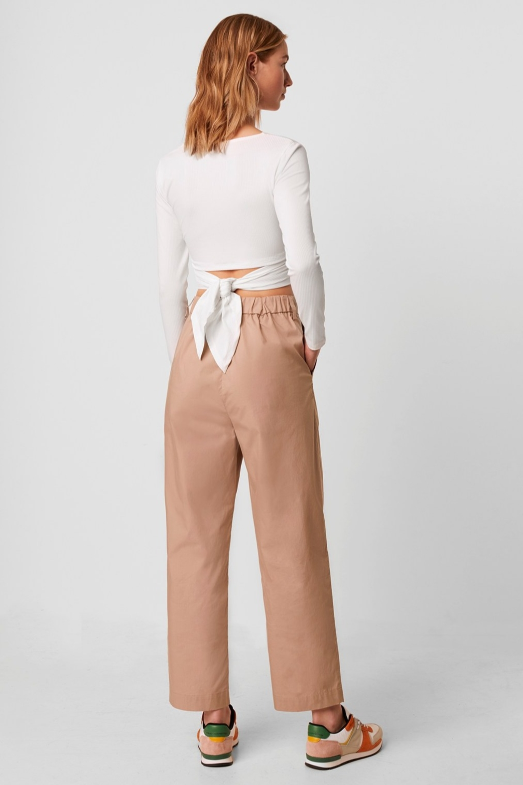 French Connection Samaya Ribbed Jersey Wrap Top - Side Cropped Image