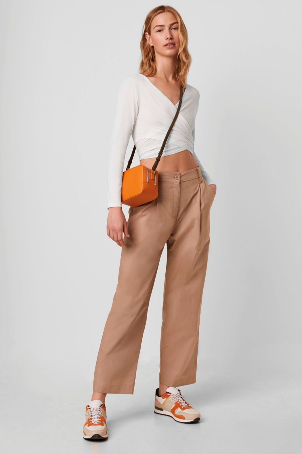 French Connection Samaya Ribbed Jersey Wrap Top - Back Cropped Image