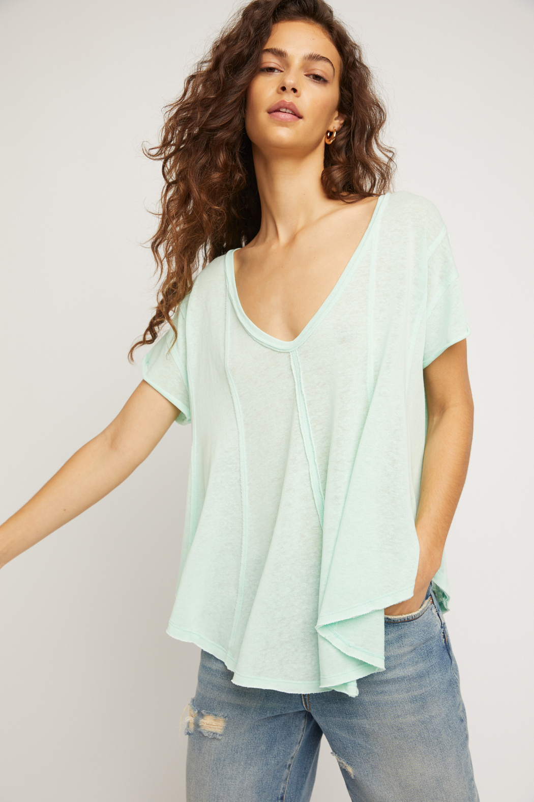 Free People  Sammie Tee - Front Cropped Image