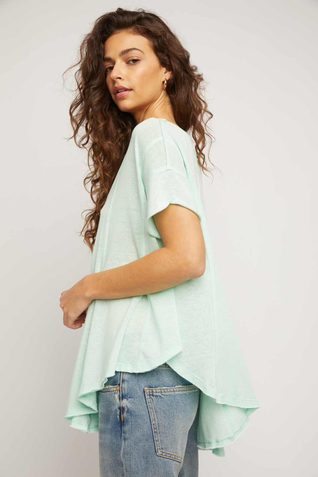 Free People  Sammie Tee - Front Full Image