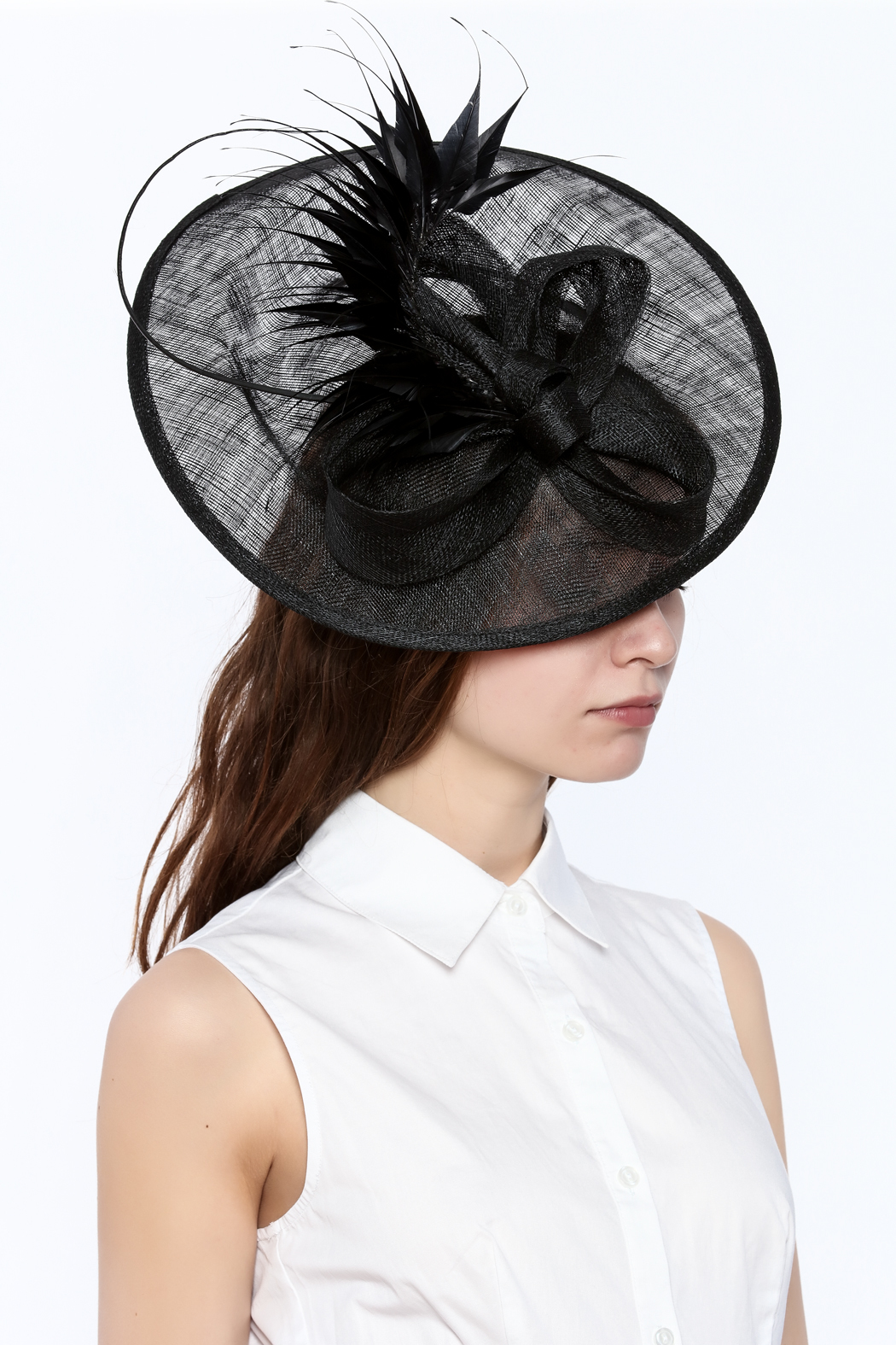 Samuel's Hats Preakness Derby Fascinator-Hat - Back Cropped Image