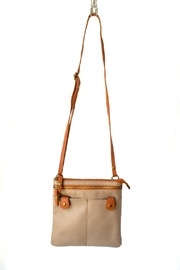 Samuelson Leather Beige Cross Body Bag - Product Mini Image