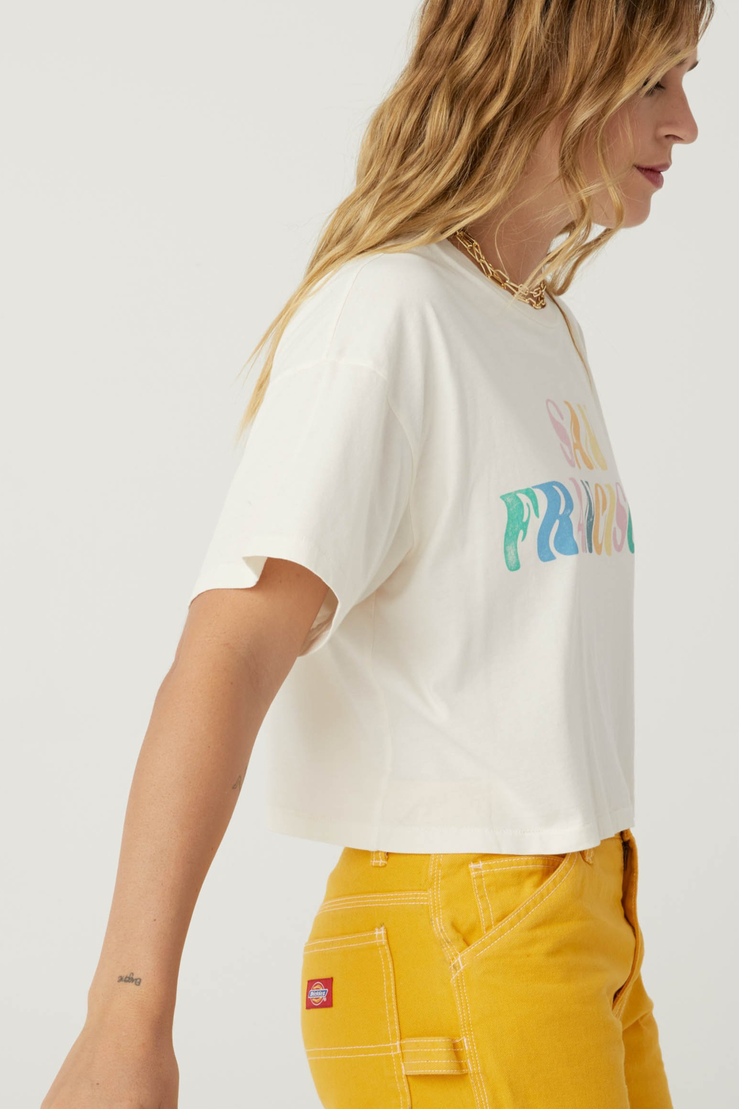 Daydreamer  San Francisco Cropped Tee - Front Full Image