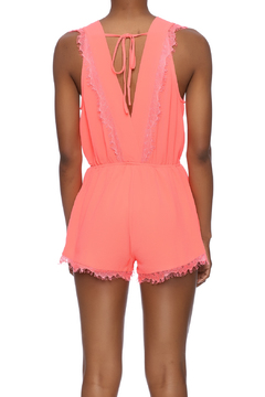 San Joy Coral Flirty Romper - Alternate List Image