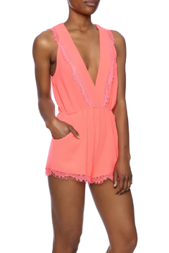 San Joy Coral Flirty Romper - Product List Image