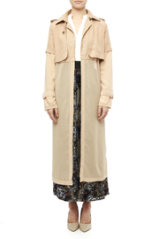 San Joy Sheer Trench Coat - Front cropped
