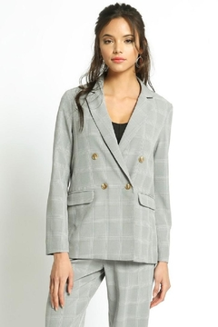 Shoptiques Product: Grey Check Blazer